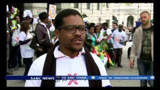 Africans living in UK held an anti-xenophobia march