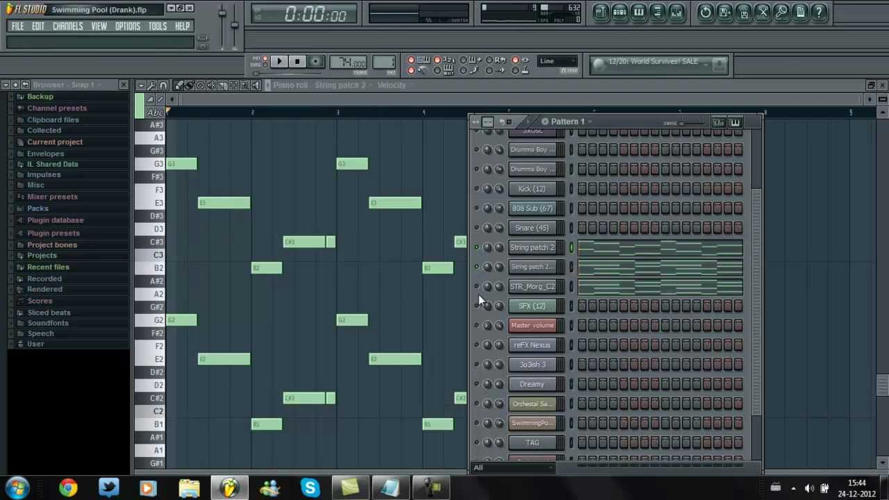 Kendrick Lamar Swimming Pools Fl Studio Remake Youtube