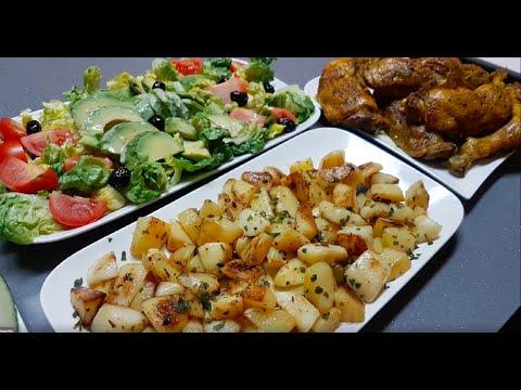 repas-très-convivial-de-tous-les-jours-facile.-وجبة-اقتصادية-بالبطاطس-والدجاج