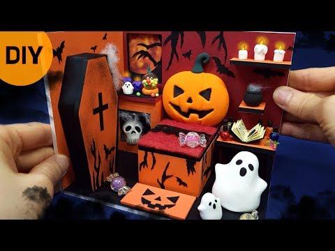 DIY Miniature dollhouse   Halloween Room decor ! Happy Halloween ~