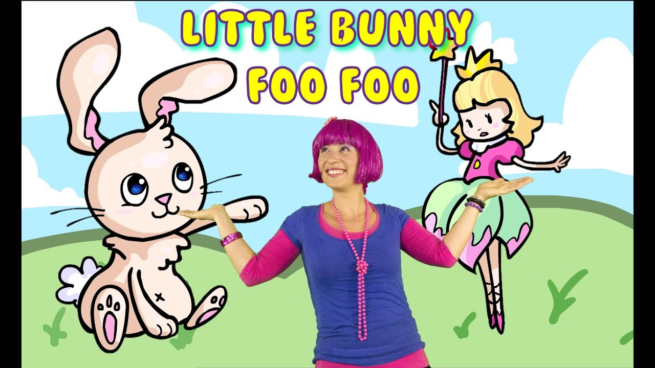 Little Bunny Foo Foo with lyrics | Nursery rhymes for children, toddlers and kids. | Debbie Doo