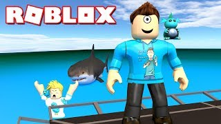 SOMEONE STOLE CHAD'S BOAT! | Roblox Shark Bite w/ Gamer Chad! | MicroGuardian