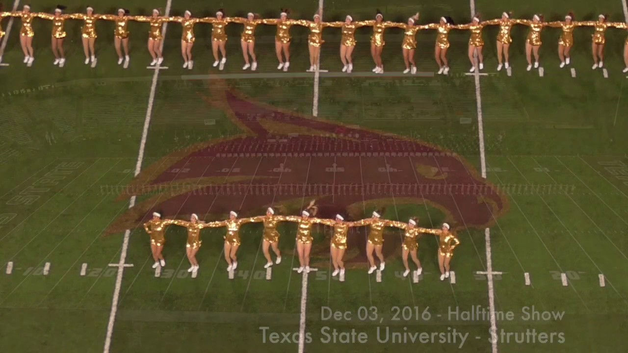 texas state strutters dec 3 2016 half time performance youtube