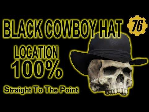 Fallout 76 - Black Cowboy Hat - Location 100%