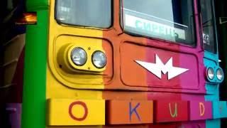 Заезд арт-поезда метро в депо(Разрисовал состав испанский художник Okuda. Киев., 2016-08-27T11:00:02.000Z)