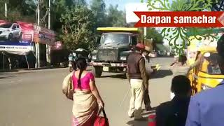 Bareilly mein traffic police action main
