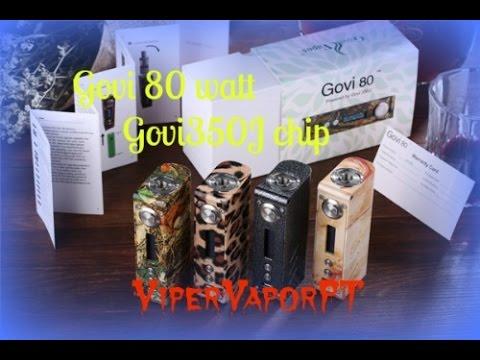 Govi 80 watt TC box Mod Review I ViperVaporPT