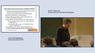 Lyre: Theoretische Philosophie, Vorlesung 09 (2015/16)