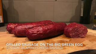 EASY! How-to cook sausage on the Big Green Egg