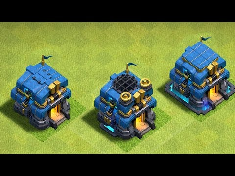 """TOWN HALL 12 GEM TO MAX!! """"clash of clans"""" LVL 1-5"""