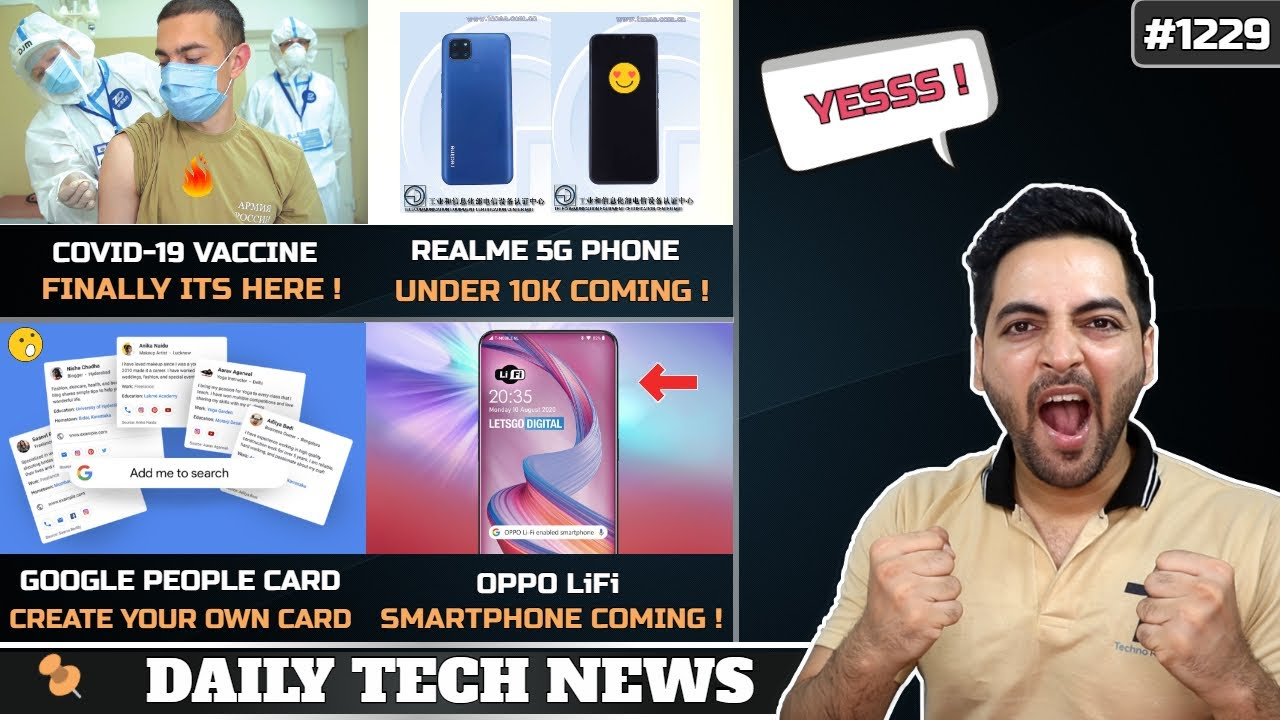 "Covid-19 Vaccine is Here FINALLY !,Realme 5G phone Under 10k,Nokia 32"" FHD TV,OPPO LiFi Smartphone"