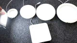 видео Потолочные встроенные светильники