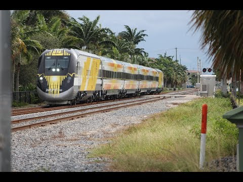 [HD]Brightline Testing In South Florida On The Florida East Coast Railway