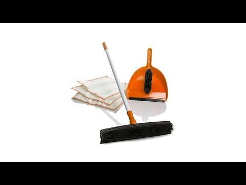 DOC Rubber Broom and Handheld Brush w/3pk DOC Cloths