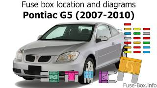 fuse box location and diagrams: pontiac g5 (2007-2010) - youtube  youtube