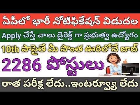 AP Government Jobs | 2286 Posts Recruitment Notification 2018 | Postal GDS | job search