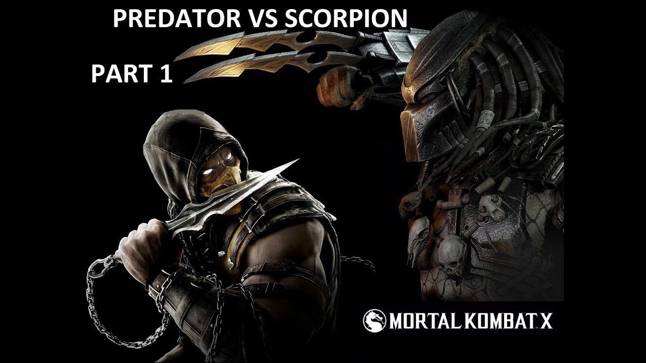 mortal kombat x predator vs scorpion part 1 youtube