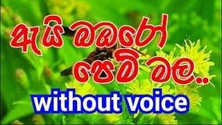 Ai Bambaro Pem Mala Karaoke (without voice) ඇයි බඹරෝ පෙම් මල