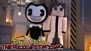 BENDY AND THE INK MACHINE DESTROYS THE POLICE STATION | Minecraft Adventure
