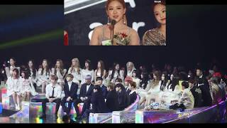 BTS WANNA ONE MOMOLAND etc Reaction to BLACKPINK Winning Best Dance Female At MMA 2018