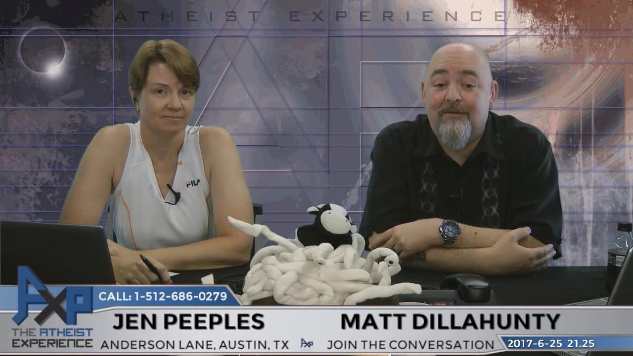 Atheist Experience 2125 with Matt Dillahunty and Jen