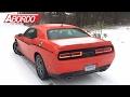 El Dodge Challenger GT es el muscle car más seguro sobre la nieve