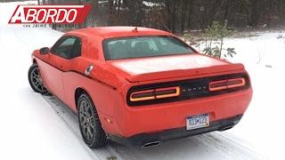 el dodge challenger gt es el muscle car ms seguro sobre la nieve