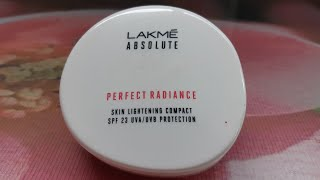 Lakme absolute perfect radiance skin lightening compact with spf 23 review compact for summers
