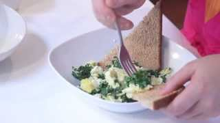 Kale & Feta Scrambled Eggs - Episode 3 (Part 1) Breakfast - Savvy & Well with Gabrielle