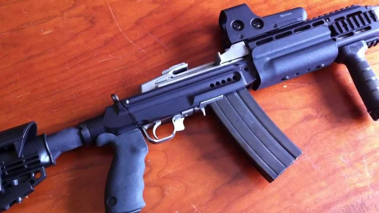 The parts I used to built my modified Ruger Mini 14