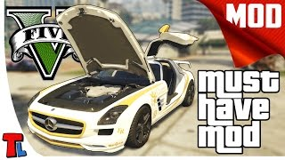 GTA 5 PC Mods | Mercedes SLS AMG | 4K 60 fps Gameplay | Best Mods