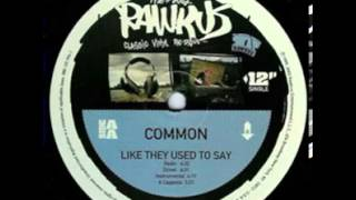 Watch Common Like They Used To Say video