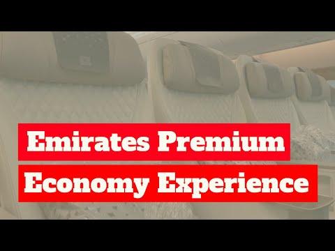 Full A380 Emirates New Premium Economy Class Experience EK004 LHR- DXB