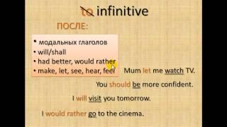 инфинитив в английском языке