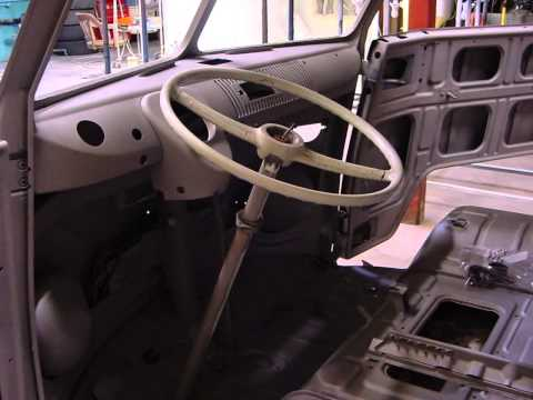 RESTORATION CUSTOM 64 VW BUS BEFORE & AFTER TWO TONE BLACK & RED 1964