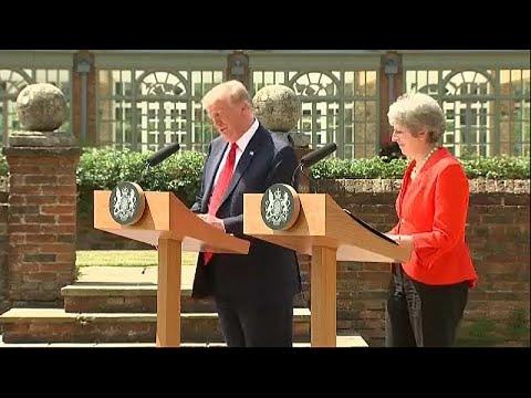 Trump, da ofensiva aos elogios a May