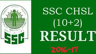 SSC CHSL 2016-17 RESULTS 👍👍👍