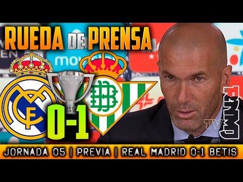 Real Madrid 0-1 Betis Rueda de prensa de Zidane (20/09/17) | POST LIGA JORNADA 05