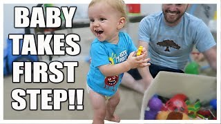 BABY BOY TAKES FIRST STEP!!