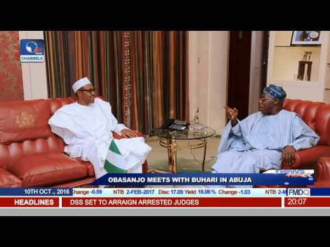 Obasanjo Meets With Buhari In Abuja