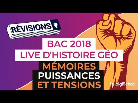 Bac 2018 - Révisions d'Histoire-Géo : Mémoires, puissances et tensions