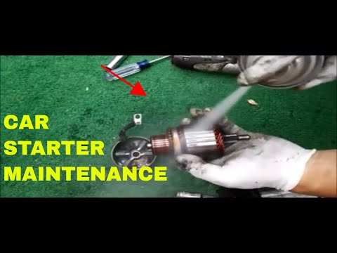 How To Repair And Clean Starter Motor Maintenance