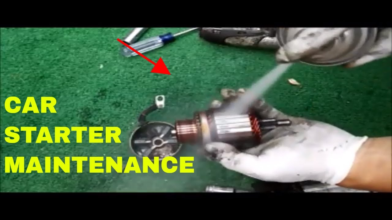 how to repair and clean starter motor maintenance [ 1280 x 720 Pixel ]