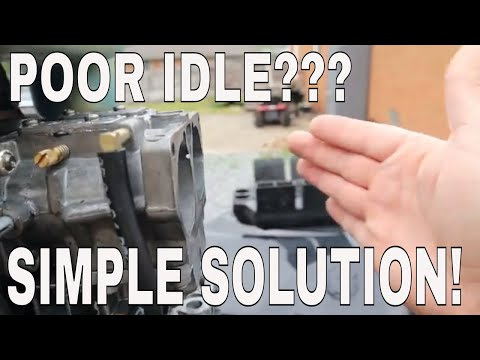 MERCURY 2 STROKE OUTBOARD POOR IDLE TROUBLESHOOTING WITH SIMPLE SOLUTION