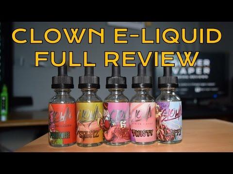 CLOWN e liquid FULL LINE REVIEW