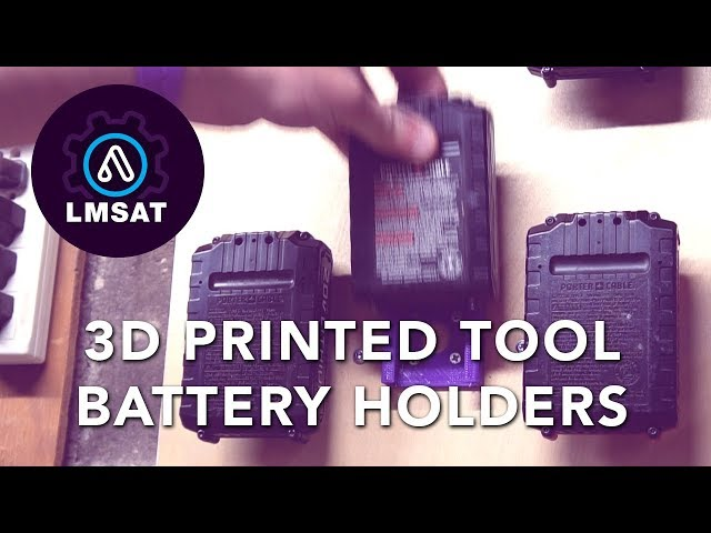 Simple Tool Battery Storage & Fusion360 Tutorial - LMSAT