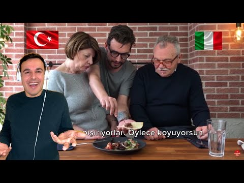 Italian Reaction To 🇹🇷 Danilo's Family Tries Turkish Food