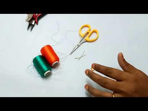 Silk thread multicolor tassel earrings making