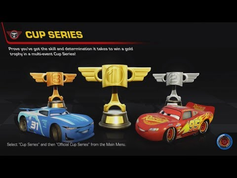 Cars 3: Driven to Win: Official Cup Series - All 16 Cups!