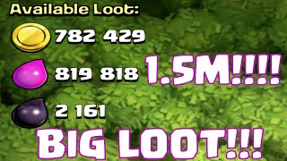Clash Of Clans 1.5 Million Epic Resource Loot Raid | Barbarians Archers Goblins Attack